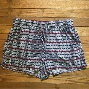 Blue Pattern Shorts